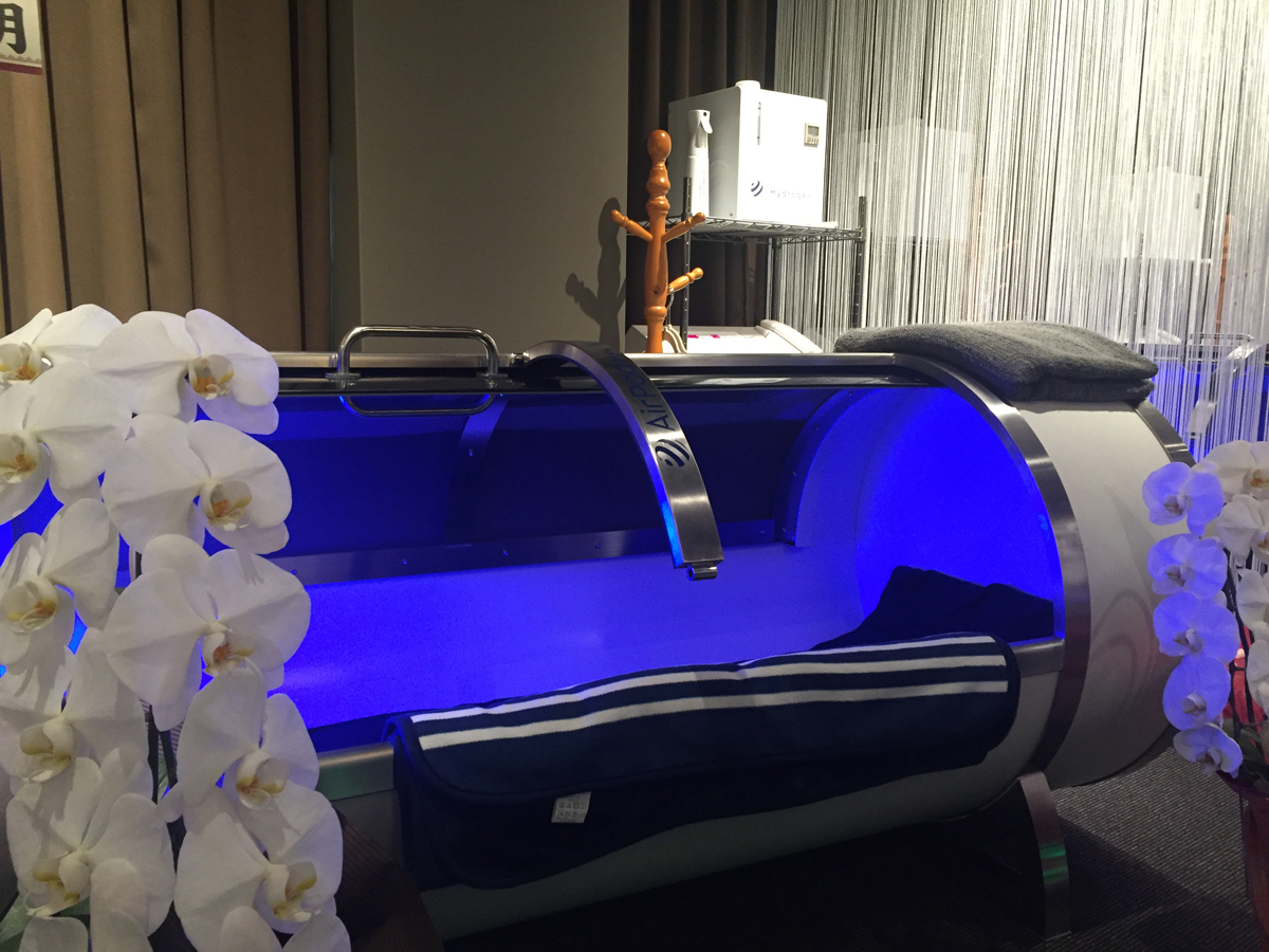 60分水素浴カプセル体験!全身から水素吸入、細胞すべてが悪玉活性酸素とおさらば