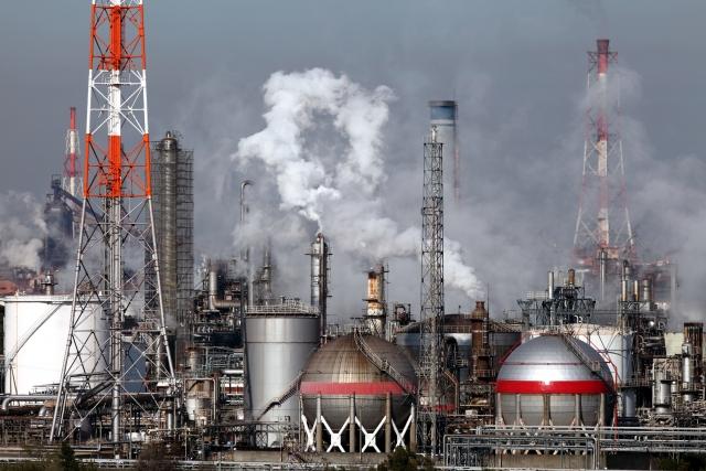 公害につながる化学燃料発電