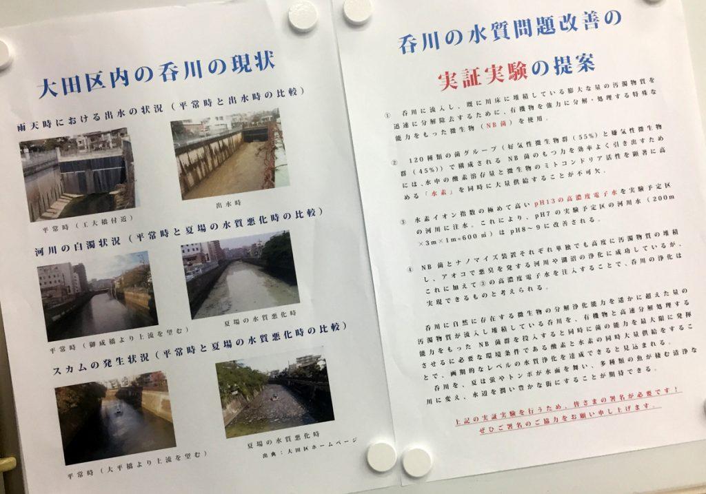 呑川の現状:酷い水質汚染
